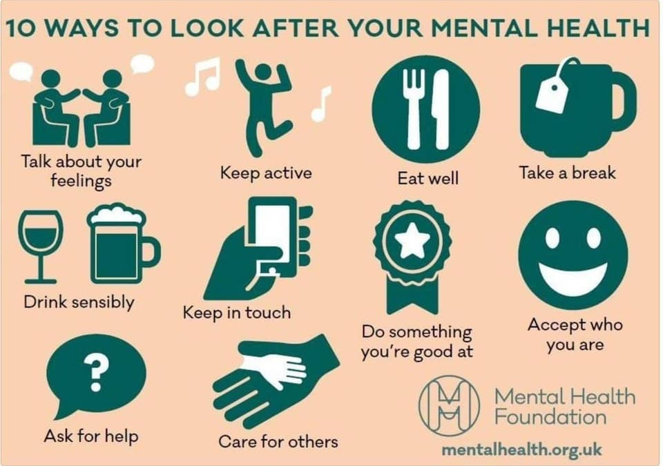10 ways to look after your mental health: