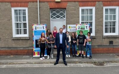 Toby Perkins, MP, visits Juniper Training Chesterfield